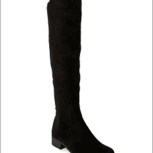 Boots over knee 10 black micro suede